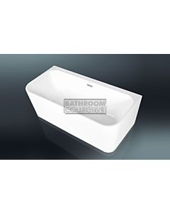Paco Jaanson - 1500mm Freestanding Deep Acrylic Back to Wall Bath Tub GLOSS WHITE