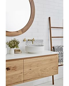 Loughlin Furniture - Ashton 1500mm Real Timber Wall Hung Double Bowl Vanity