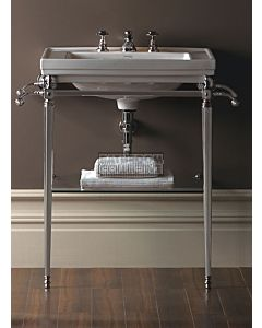 Canterbury - Warrington Deco Large Basin Washstand, Chrome 640mm x 490mm