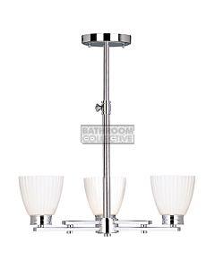 Elstead - Wallingford Traditional Bathroom Ceiling Light in Chrome