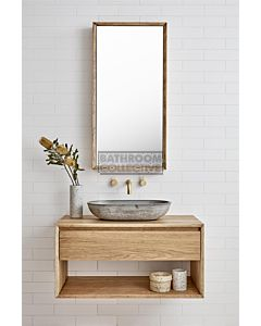 Loughlin Furniture - Baxter 750mm Real Timber Wall Hung Vanity