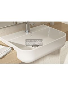 Paco Jaanson - Bocci Milano Narrow Semi Recessed Basin 1th GLOSS WHITE