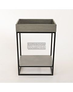 Noodco - Box Concrete Sink Vanity Set in Mid Tone Grey