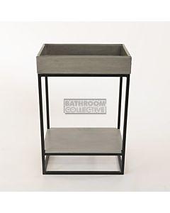 Noodco - Box Concrete Sink Vanity Set in Mid Tone Grey