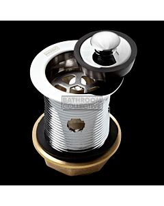 Harbic Brassware - 40MM Overflow Bath or Basin Waste with Bowen Stopper & 80mm Tail