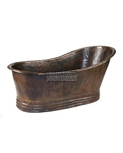 CopperCo - 1702mm Hammered Copper Single Slipper Bathtub