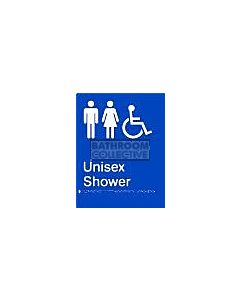 Emroware - Braille Sign Unisex Ambulant Toilet 180mm x 235mm
