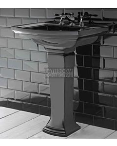 Canterbury Shefford Large Black Ceramic Pedestal Basin 685mm x 550mm