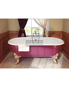 Chadder - Blenheim Double Ended Clawfoot Bath with Painted Exterior 1740mm (Handmade in UK)