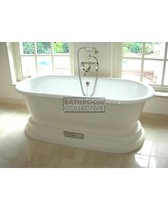 Chadder - Churchill Luxury Bath with Mother of Pearl Mosaic Exterior 1740mm (Handmade in UK)