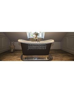 Chadder - Chariot Luxury Bath with Metal Plinth Painted 1580mm (Handmade in UK)