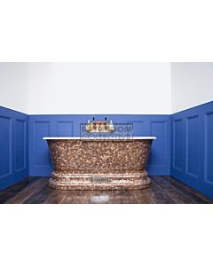 Chadder - Windsor Luxury Bath with Genuine Round Copper Mosaic Exterior 1620mm (Handmade in UK)