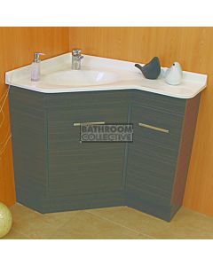 Showerama - Freestanding Custom Australian Made Corner Vanity 910 x 610mm 2 Door Polymarble Top