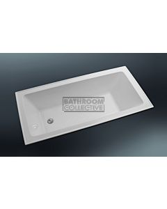 Paco Jaanson - 1500mm Rectangular Drop In Bath with Anti Slip (tile bead) GLOSS WHITE