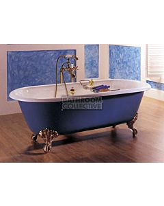 Broadway - Dual Tub Claw Foot Cast Iron Bath 1700mm WHITE