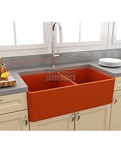 Paco Jaanson - Bocchi Casa Ceramic Kitchen Double Bowl Butler Sink 850mm GLOSS ORANGE