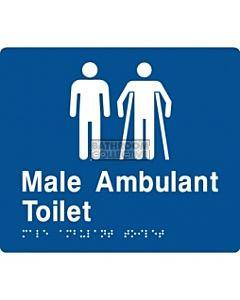 Emroware - Braille Sign Male / Male Ambulant Toilet 180mm x 210mm