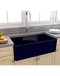 Paco Jaanson - Bocchi Casa Ceramic Kitchen Double Bowl Butler Sink 850mm GLOSS SAPPHIRE