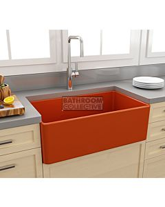 Paco Jaanson - Bocchi Casa Ceramic Kitchen Butler Sink 750mm GLOSS ORANGE