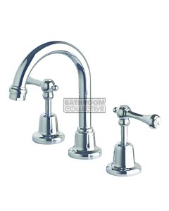 Bastow Tapware - Federation Basin Set Lever Handle Fixed Spout CHROME