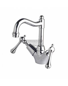 Bastow Tapware - Federation Basin Twinner Tap with Traditional Spout & Lever Handles CHROME