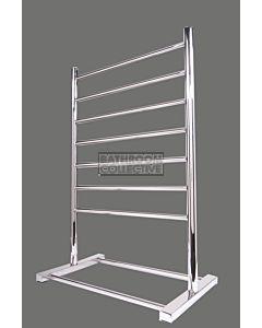 Hotwire Heating - 7 Bar Round Freestanding Heated Towel Rail 900H x 600W
