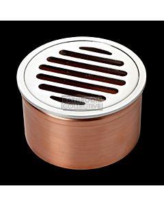 Harbic Brassware - 100mm Round Leak Control Floor Waste FWLCF100CP