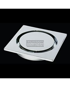 Harbic Brassware - Halo 100mm Square Trapscrew Floor Waste