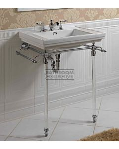 Canterbury - Warrington Deco Large Basin With Hardwick Wash Stand, Chrome 640mm x 490mm