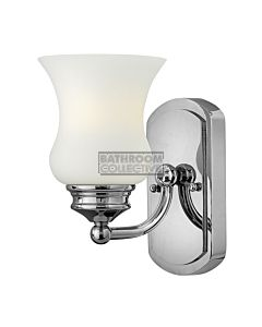 Elstead - Constance 1 Light Traditional Bathroom Wall Light in Polished Chrome