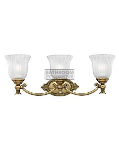 Elstead - Francois 3 Light Traditional Bathroom Above Mirror Light in Burnished Brass