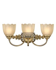 Elstead - Isabella 3 Light Traditional Bathroom Above Mirror Light in Burnished Brass