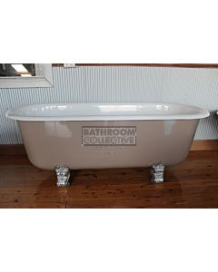 "Yoki - 5'9"" Lawson Double Ender Clawfoot Cast Iron Antique Bath 1760mm"