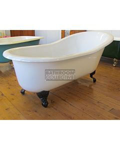 "Yoki - 5'6"" Hip Highback Clawfoot Cast Iron Antique Bath 1680mm"
