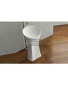 Paco Jaanson - iStone 400mm Free Standing Basin MATTE WHITE