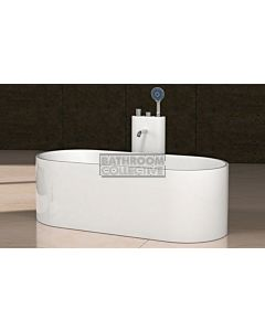Paco Jaanson - iStone 1550mm Oval Freestanding Stone Bath Tub MATTE WHITE