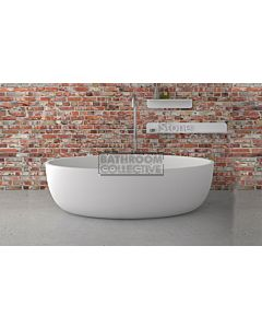 Paco Jaanson - iStone 1700mm Oval Freestanding Stone Bath Tub MATT WHITE