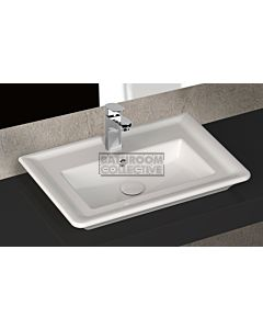 Paco Jaanson - Isvea Eleganza 650mm Wall / Bench Mounted 1TH Basin Gloss White
