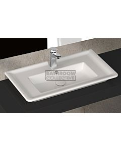 Paco Jaanson - Isvea Eleganza 800mm Wall / Bench Mounted 1TH Basin Gloss White
