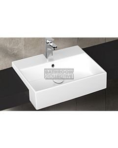 Paco Jaanson - Isvea Purita 500mm Semi-Recessed Basin 1TH Gloss White