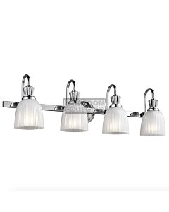 Elstead - Cora 4 Light Traditional Bathroom Wall Light in Polished Chrome