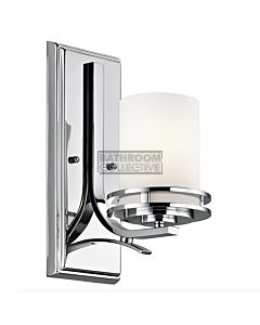 Elstead - Hendrik 1 Light Traditional Bathroom Wall Light in Polished Chrome