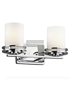 Elstead - Hendrik 2 Light Traditional Bathroom Wall Light in Polished Chrome
