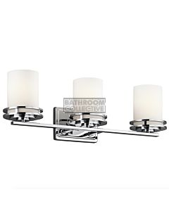 Elstead - Hendrik 3 Light Traditional Bathroom Wall Light in Polished Chrome