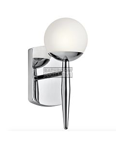 Elstead - Jasper 1 Light Traditional Bathroom Wall Light in Polished Chrome