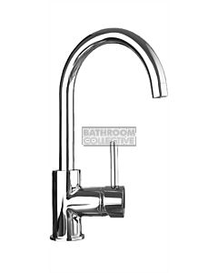 Quoss - Transformer Gooseneck Kitchen Sink Mixer (transform 3 tap holes into a mixer)