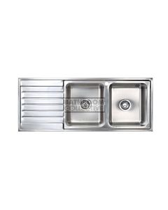 Seima - Kubic Double Right Bowl Kitchen Sink + Drainer (1 tap hole)