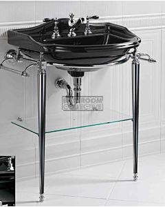 Canterbury - Berkley Large Black Basin on Wash Stand 660mm x 500mm