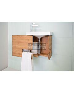 ADP - Bamboo Micro Wall Hung Vanity 400mm, Ceramic Top