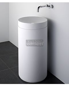 Omvivo - Mono Round Basin with Column Pedestal